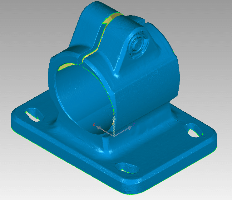 Figure 1: Scanned Casting