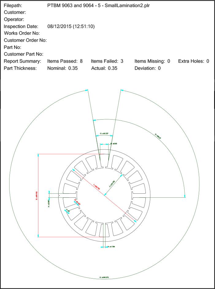 Figure 2: Lamination Inspection Diagram