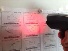 Figure 2: Barcode scanning in AMTB, Lorraine